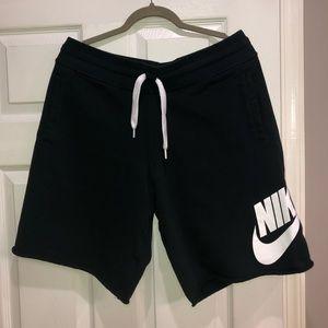 Nike men's black French terry sweat shorts size XL
